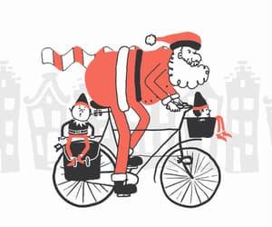 bycicle, christmas, and gif image