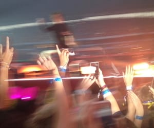blurry, concert, and fandom image