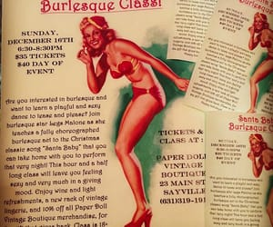 burlesque, vintage ad, and iphoneography image