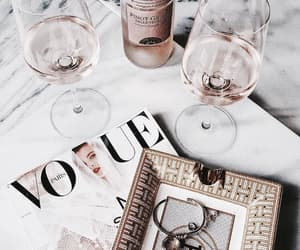 vogue, wine, and drink image