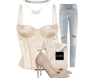 bustier, dior, and cream image