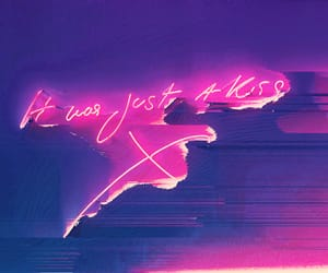 neon, kiss, and lights image