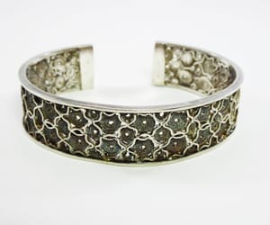 artdeco, floral pattern, and sterling silver image
