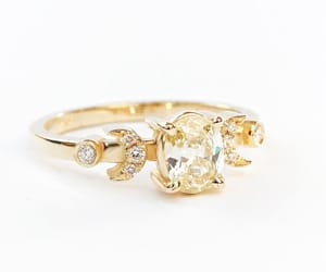 etsy, oval diamond ring, and uniqueengagement image