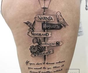 tattoo, narnia, and hogwarts image
