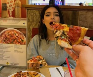 girl, icon, and pizza image