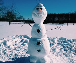 snow, olaf, and disney image