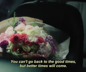 dark, quote, and flowers image