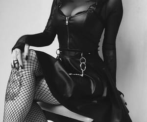 black and white, gothic fashion, and goth image