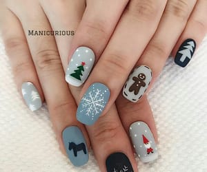christmas, nails, and ideas image