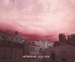 pink, quotes, and sky image