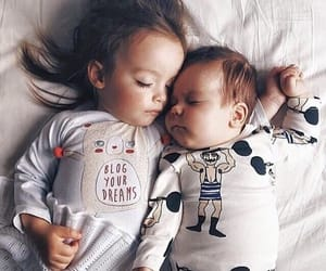 baby, cute, and brother image
