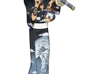 kimono, trafalgar law, and one piece image