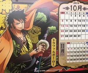 calendar, one piece, and trafalgar law image