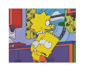 bart simpson, brother and sister, and cartoon image