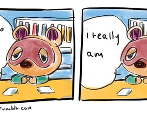 animal crossing, cry, and nook image