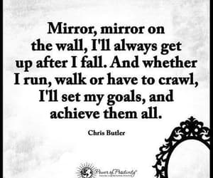 quotes, mirror, and goals image