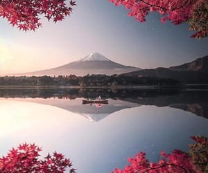 nature, lake, and japan image