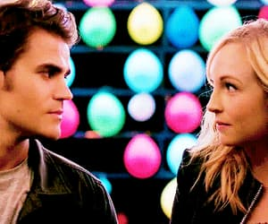 couple, stefan salvatore, and serie image