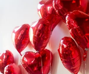 balloons, red, and Valentine's Day image