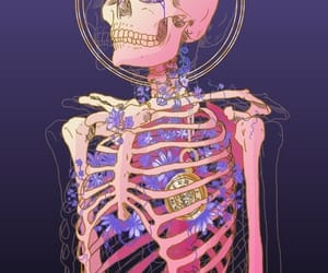 art, skeleton, and drawing image
