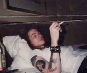 Guns N Roses, axl rose, and cigarette image