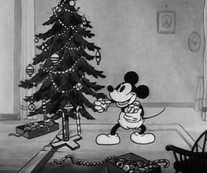 blacknwhite, christmas, and gif image
