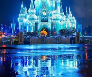 blue, castle, and magic image