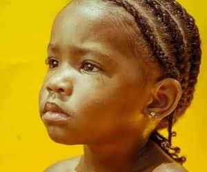baby, braids, and yellow image