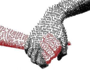 hands, hand, and words image