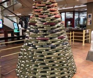 books, lights, and weihnachten image