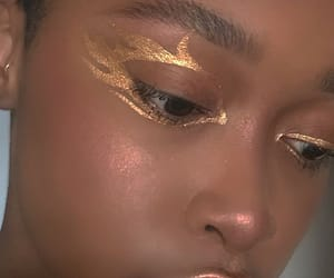 gold, makeup, and beauty image