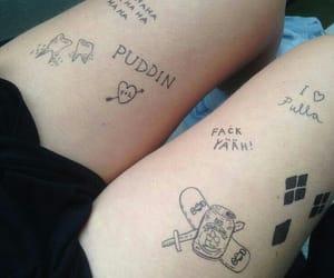 girl, tattoed girl, and tattoo image