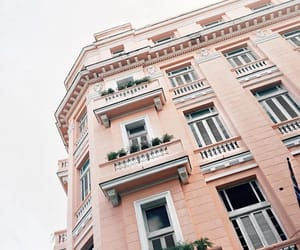 building, pink, and aesthetic image