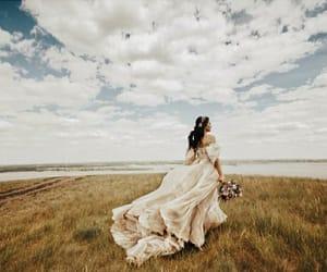 nature, wedding, and wedding dress image