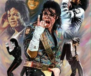Collage, king of pop, and mj image