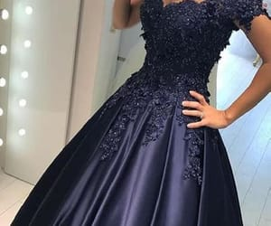 blue prom dresses, long prom dresses, and lace evening dresses image
