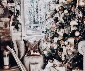 christmas tree, santa, and christmas spirit image