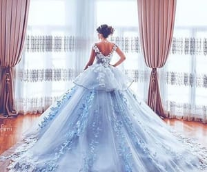 blue, snow, and dress image