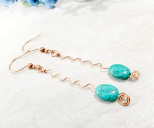 etsy, handmade jewelry, and long earrings image