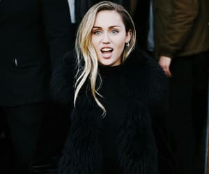 miley cyrus, black, and outfit image