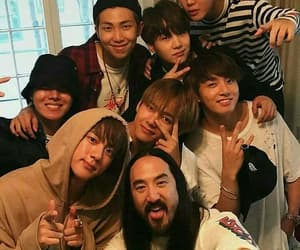 family, steve aoki, and bts image