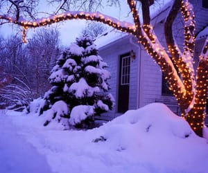 christmas, snow, and decoration image