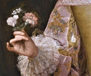 18th century, flower, and lady image