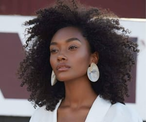 beauty, black women, and brown skin image
