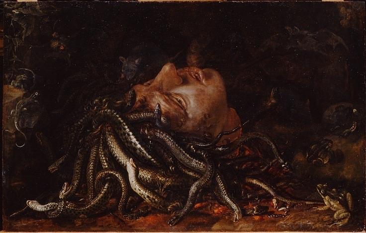 greek, oil, and medusa image