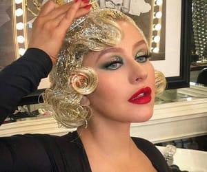 aguilera, blonde, and glitter image