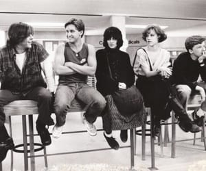 The Breakfast Club, black and white, and movie image