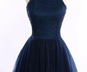 short prom dress, prom dress blue, and navy prom dress image