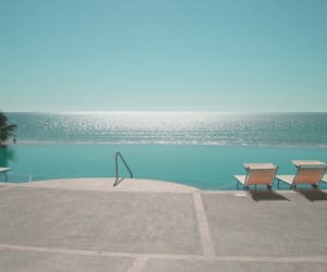 pool, holiday, and ocean image